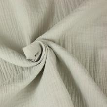 double gauze cotton fabric pearl grey