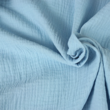 double gauze cotton fabric light blue