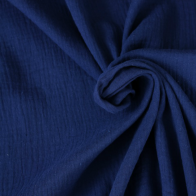 double gauze cotton fabric dark blue