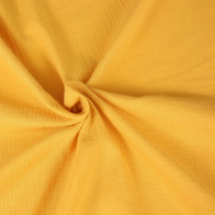 double gauze cotton fabric sunfire yellow