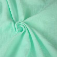 doppia garza di cotone verde acqua
