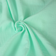 double gauze cotton fabric water green