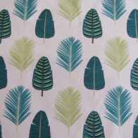 Cotton fabric tropical leaves design