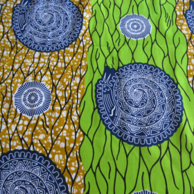 wax Supreme fabric kaki anise green blue coloured