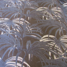 cotton fabric red palm trees