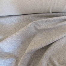 Grey french terry knit fabric