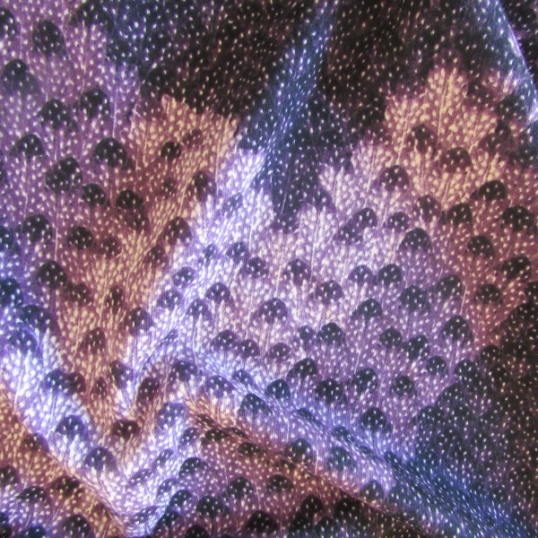 purple sweat shirt fabric with geometric pattern