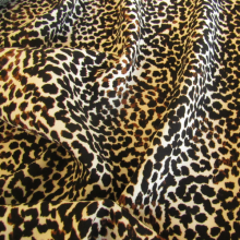 tessuto di poliestere leopardo