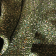 Chanel style wool fabric green coloured