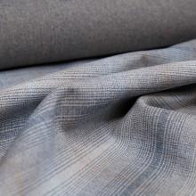 Tessuto lana beige e blu con quadretti
