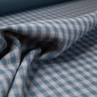 emerald green wool fabric with check pattern