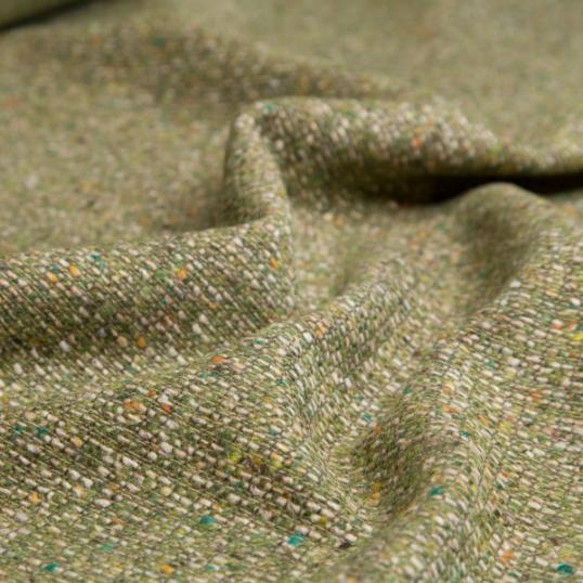 Tessuto di lana verde tipo Chanel