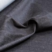 tessuto di cotone denim stretch nero