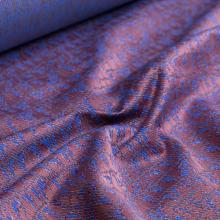 tessuto di cotone jacquard blu e rosa antico