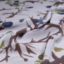 tessuto seta pura stampa floreale giapponese