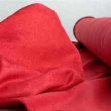 carmine red Suédine fabric