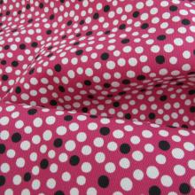fuschia remnant & white and black polka dots 90 cm x 150 cm