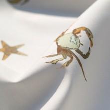Cotton remnant Crabs & starfish 110 cm x 145 cm