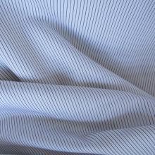 grey striped cotton remnant 74 cm x 150 cm