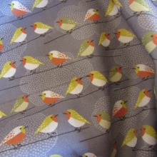 cotton fabric with birds