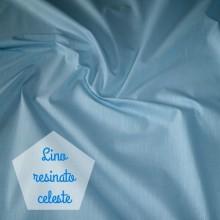 Coated linen remnant light blue 55 cm x 150 cm