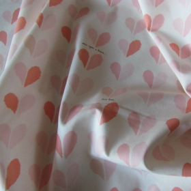 Pink and cream coloured cotton fabric Happily Ever After