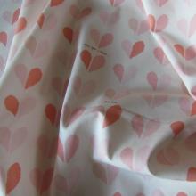 tessuto di cotone panna e rosa Happily ever After