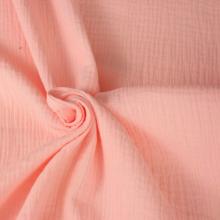 scampolo doppia garza di cotone rosa 70 cm x 140 cm
