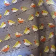 cotton remant with birds 98 cm x 150 cm