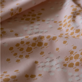 Pink cotton fabric Buttercup Blossoms