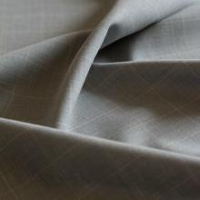 Italian wool Glen plaid grey