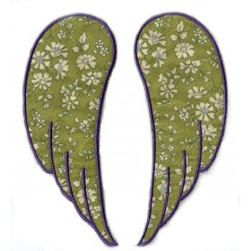 Iron-on patch angel wings (X2)