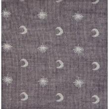 Organic Cotton fabric Lunes et Etoiles