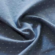 Tessuto di cotone biologico chambray a pois