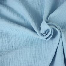 Scampolo doppia garza di cotone azzurro 61 cm x 140 cm