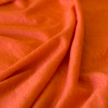 Linen jersey fabric  -  coral color