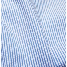 Blue and white seesurcker remnant 98 cm x 150 cm