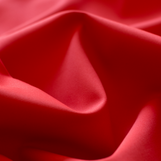 Red cotton sateen fabric with stretch