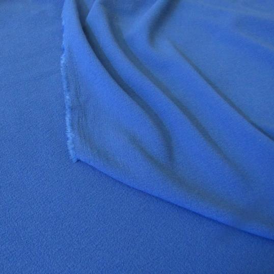 Polyester crepe remnant royal blue 170 cm x 150 cm