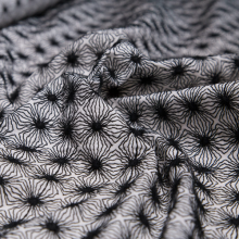 Black and White embroidery cotton remnant 59 cm x 140 cm