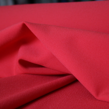 Polyester crepe remnant carmine red 143 cm x 140 cm