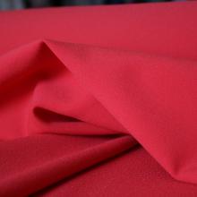 Scampolo crepe di poliestere rosso carminio 143 cm x 140 cm