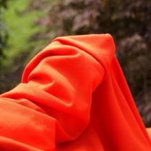 Cotton knit remnant tangerine 93 cm x 136 cm