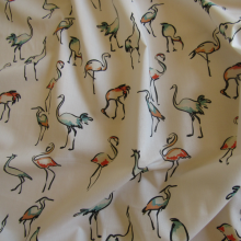 Cotton Fabric Pink Flamingos