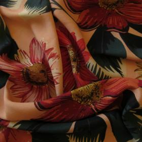 Viscose crepe fabric Big Flowers