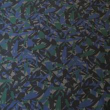 Tessuto di cotone blu e verde