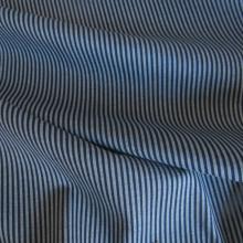 Maglia di cotone righe blu scuro/celeste