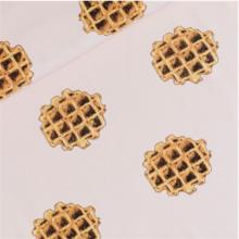 Felpa di cotone Waffles rosa nude