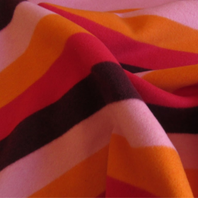 Wool fabric with bright stripes
