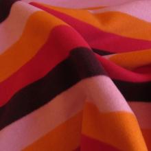 Tessuto di lana con righe sgargianti
